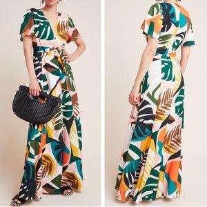Hutch wrap maxi dress Anthropologie NEW minor flaw